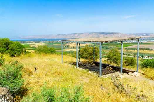 Sea of Galilee, Menahamiya Observatory, and the Jordan River valley