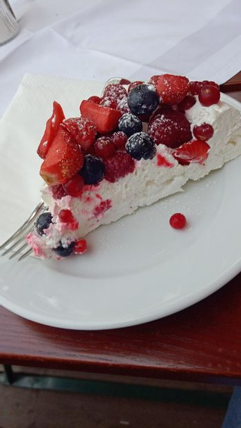 cake or pie and other sweets in the pastry shop or bakery