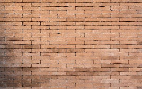 Brick wall background, no joints between the bricks
