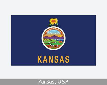 Kansas USA State Flag