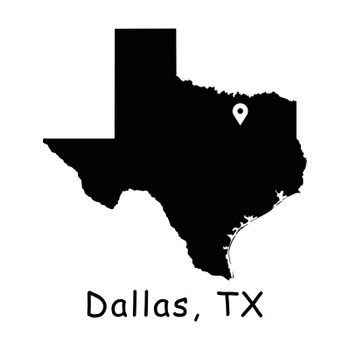 1290 Dallas TX on Texas State Map