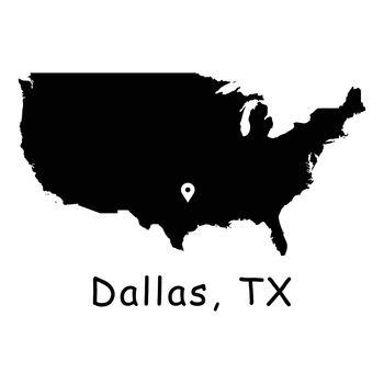 1281 Dallas TX on USA Map