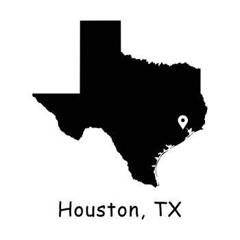 1286 Houston TX on Texas State Map