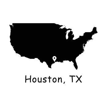1276 Houston TX on USA Map