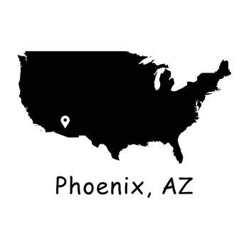 1277 Phoenix AZ on USA Map
