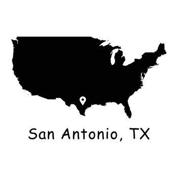 1279 San Antonio TX on USA Map