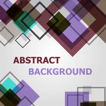 Abstract square geometric pattern design background