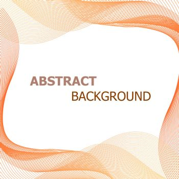 Abstract background with orange lines wave