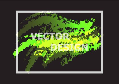 Abstract background with green and yellow gradient