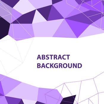 Abstract purple geometric background with polygon design