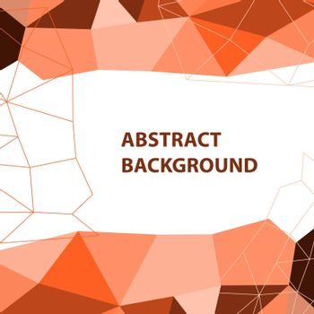 Abstract orange geometric background with polygon design