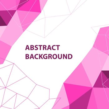 Abstract pink geometric background with polygon design