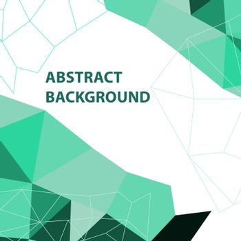 Abstract green geometric background with polygon design