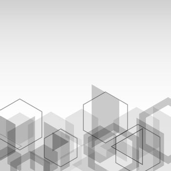 Abstract background with gray cubes geometric shape
