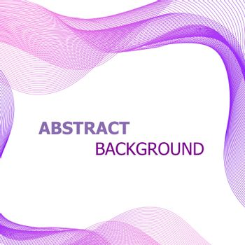 Abstract background with pink and purple lines wave