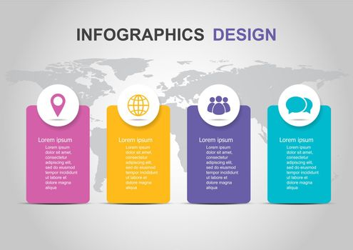 Infographic template with banner design