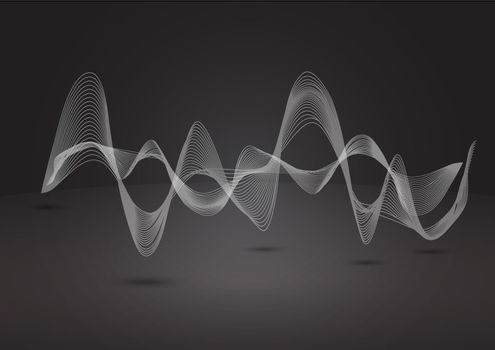 Abstract dynamic line on balck background
