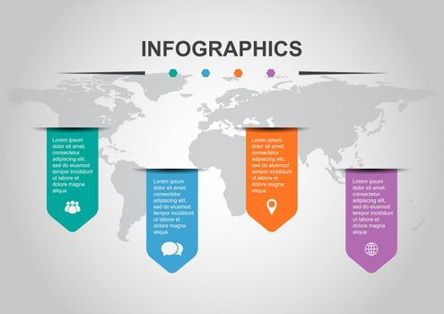 Set of infographic design template with banners