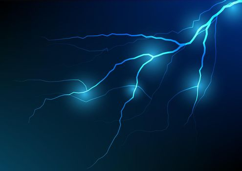 Lightning and thunder bolt effect background