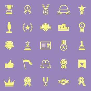 Winner color icons on violet background