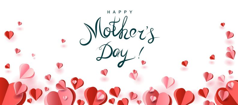 Hearts congratulation on Mother's Day