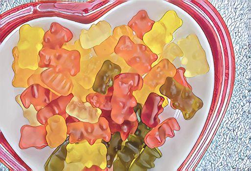 teddy bear figured jelly beans