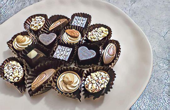 ready to eat figured chocolates