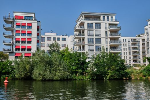 New housing project at the river Spree