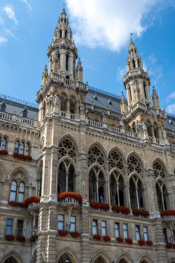 Detail of the beautiful Vienna City Hall