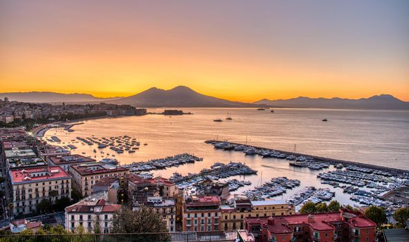 The gulf of Naples and Mount Vesuvius