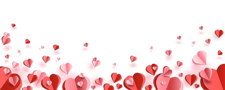 Paper cut hearts