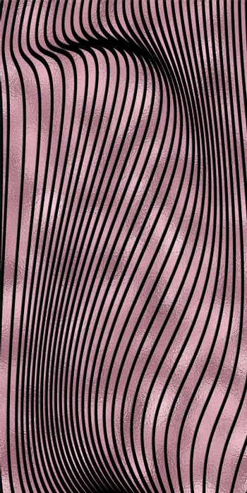 Abstract linear pattern. Template for design backgrounds, package, textile, wrapper. Rose pink gold black background. Illustration