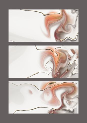 Pastel fluid marble agate pattern, gold texture, abstract background. Set of different designs. Modern colourful trendy background. Wave colour Liquid shape. Abstract design. 3D Illustration