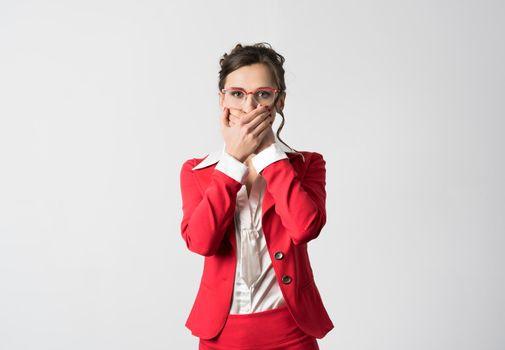 Businesswoman speak no evil
