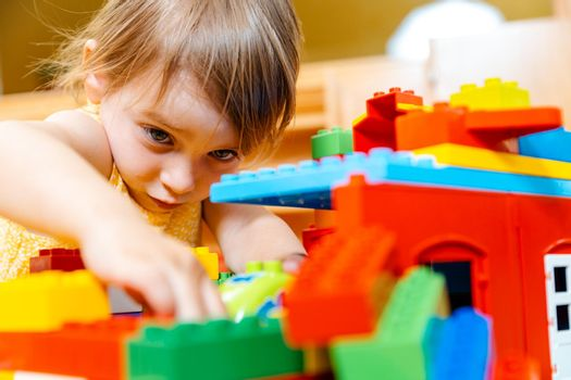 Child in playgroup of kindergarten
