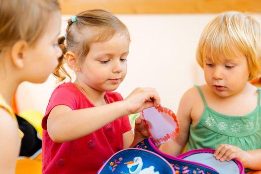 Playgroup of children in Kindergarten
