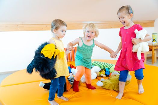 Children playing together in Kindergarten
