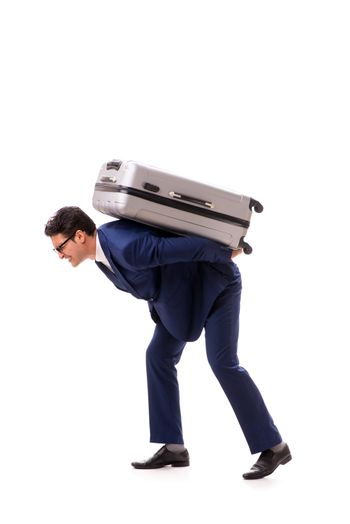 Businessman facing excess charges due to heavy suitcase