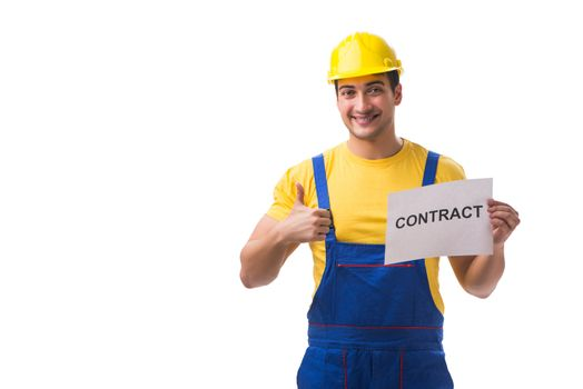 Worker not happy with his employment contract