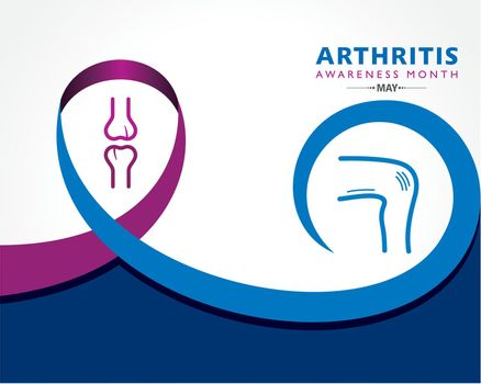 Vector Illustration of  Arthritis Awareness Month observed each year in May.