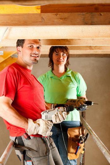 Couple in home improvement