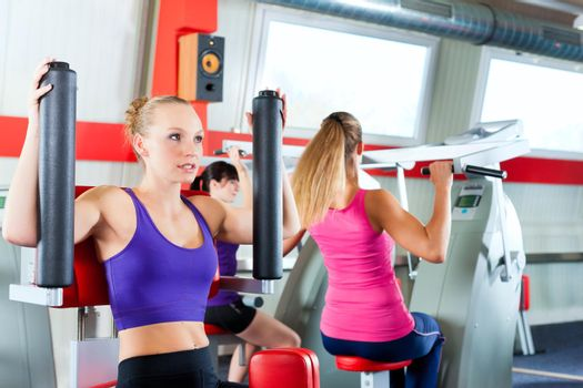 gym people doing strength or sports training