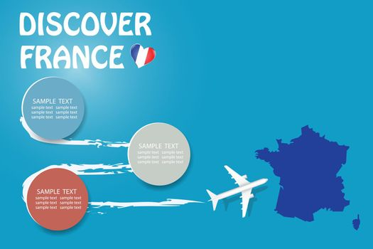 Discover France template vector