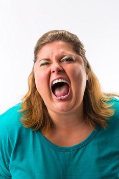 Woman screaming loud