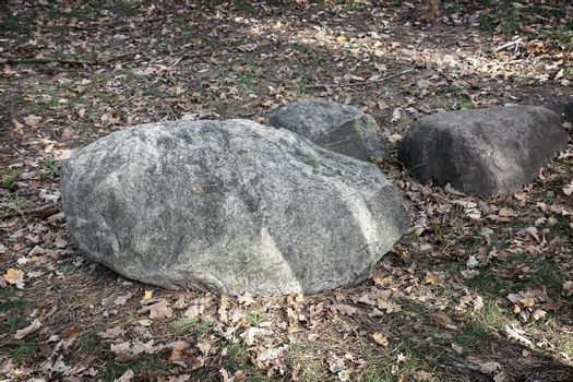 Decorative decoration of large boulders in the Park