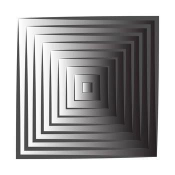 The square decreases towards the center. Vector illustration for design, screensavers, gradient design.