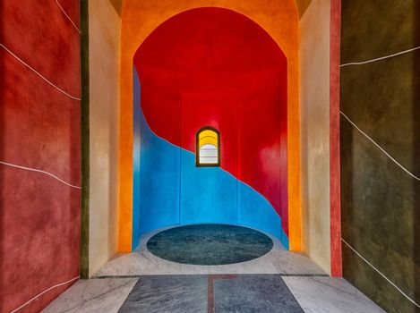 Chapel of SS. Our Lady of Grace, Chapel of Barolo is a colorful small church located in the countryside of the Langhe