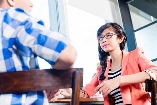 Creative agency workers brainstorming