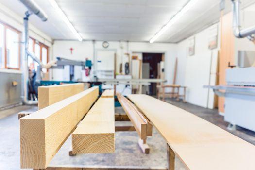 Workshop of a carpenter or joiner