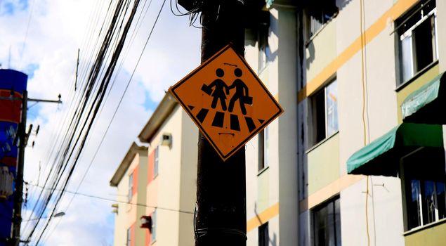 pedestrian crossing signage